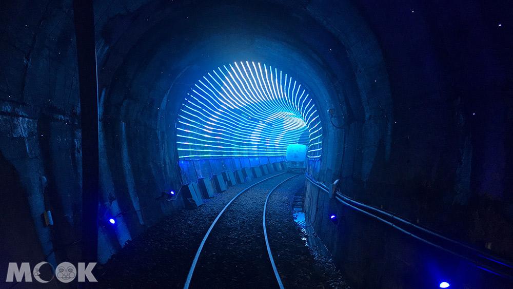 深澳鐵道自行車  光雕海底隧道 隧道內