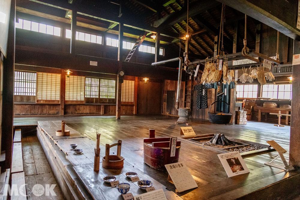 舊余市福原漁場內的展示