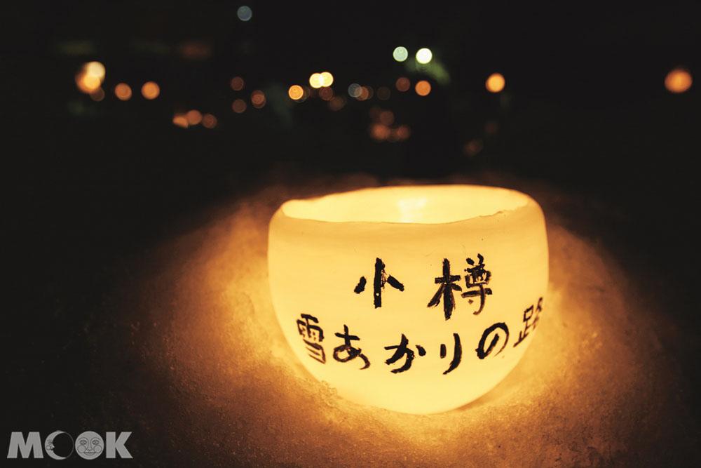小樽雪燈之路的裝飾