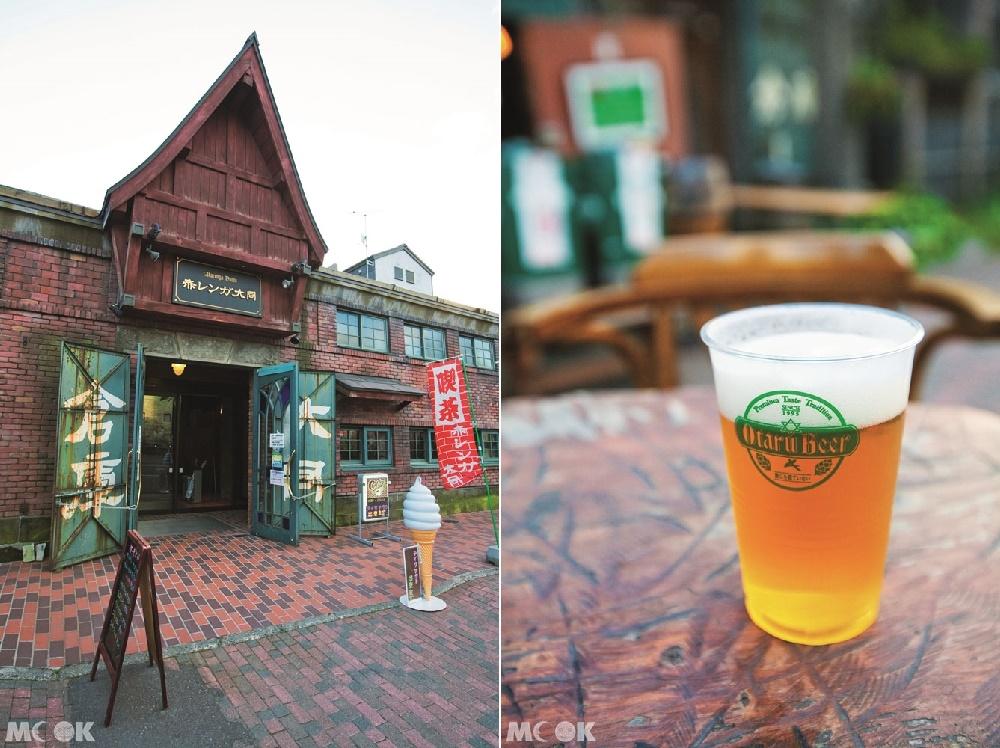 小樽運河旁的倉庫群以及小樽啤酒
