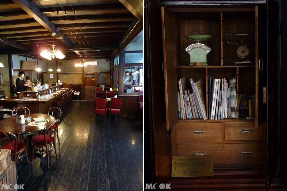 小樽堺町的咖啡廳くぼ家Kuboya內部一景