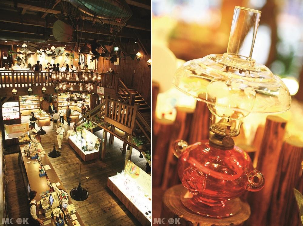 小樽堺町北一硝子三號館的玻璃藝品