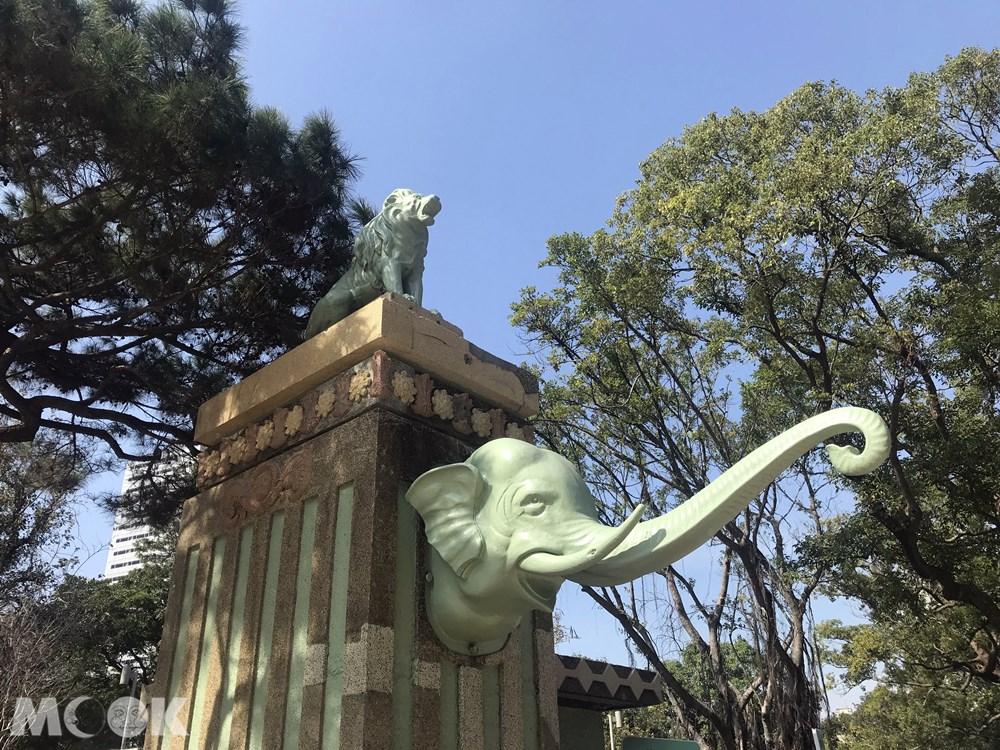 台灣 新竹 北台灣 新竹市立動物園 大象門 歷史建築 文化資產  獅子