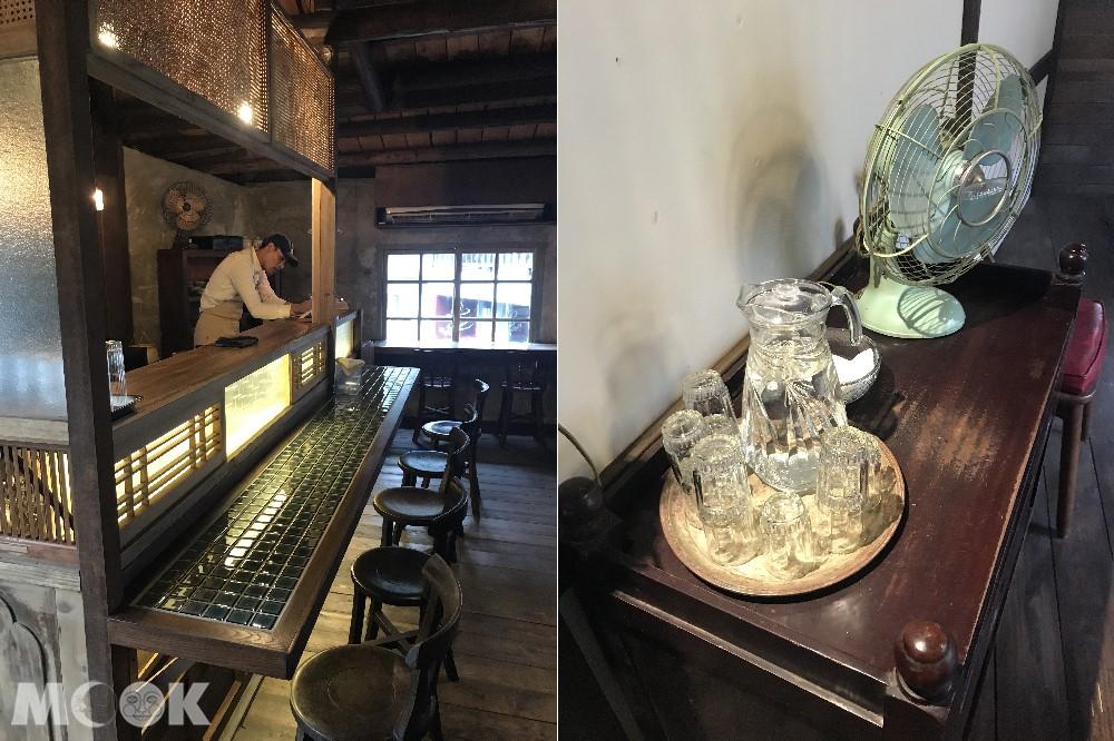 新北金瓜石的老屋餐廳內景