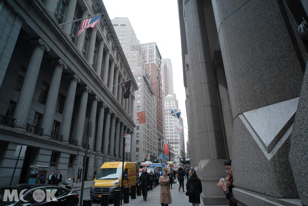 紐約華爾街街景