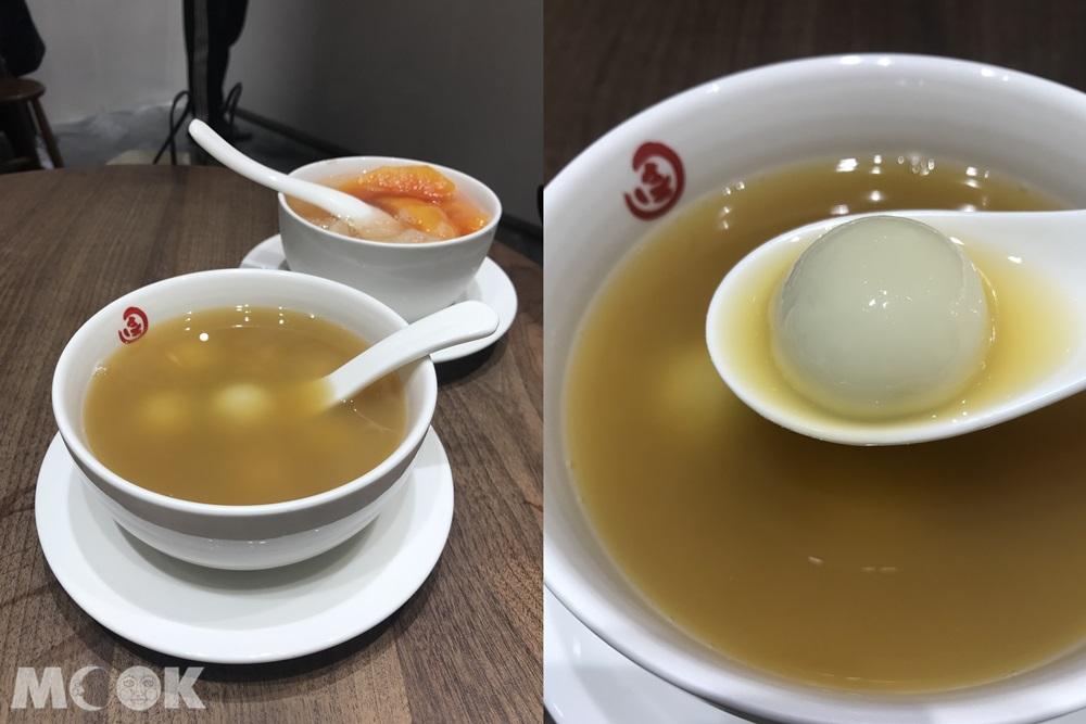 台灣 台北 佳佳甜品 米其林推薦 新光A11店 薑汁寧波湯圓