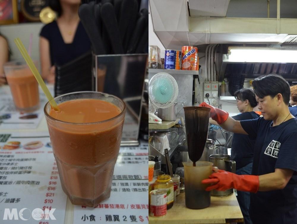 香港 元朗 華嫂冰室 本店 奶茶 冰花奶茶