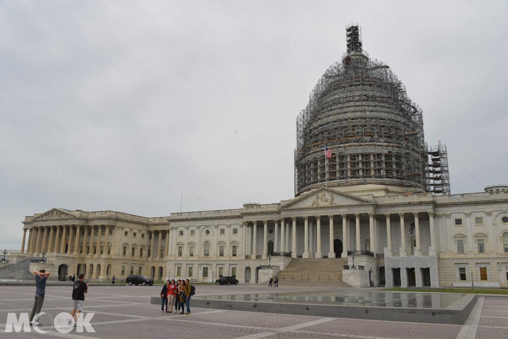 華盛頓特區的美國國會大廈外觀