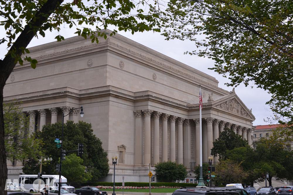 華盛頓特區裡的美國國家檔案館