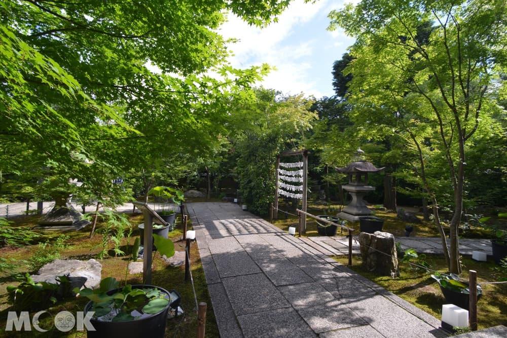 一般開放期間,可以自由參觀庭院