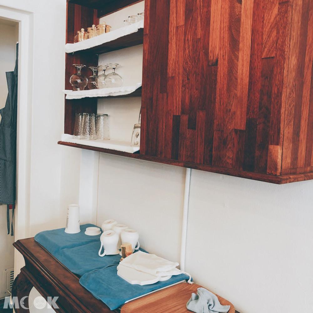 咖啡楊貴妃店內裝潢還融合了復古的西洋元素