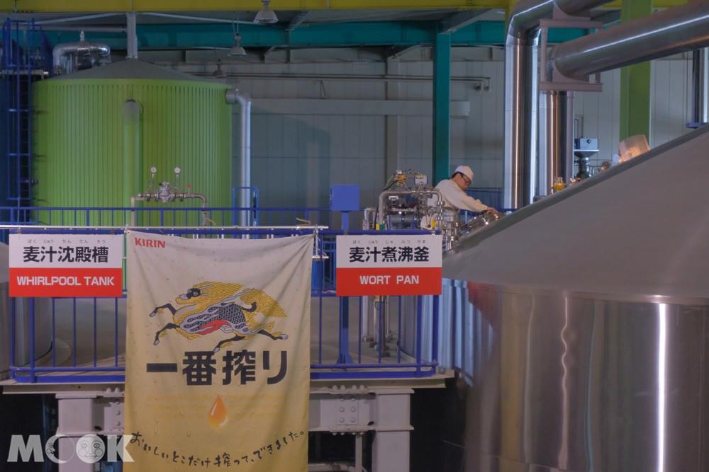 麒麟啤酒神戶工廠 - 預處理桶