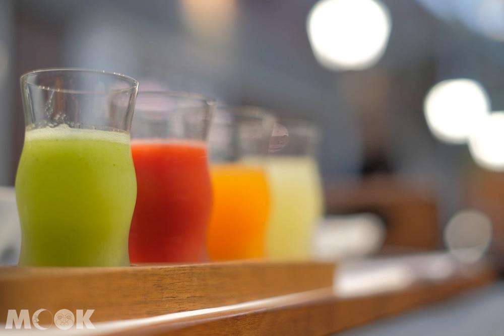神戶北野飯店 – 世界第一早餐 – 5色果汁