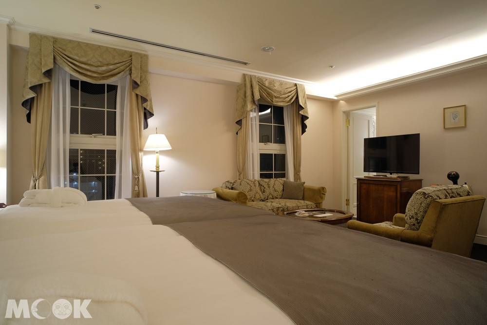 神戶北野飯店房間採用復古的傢俱
