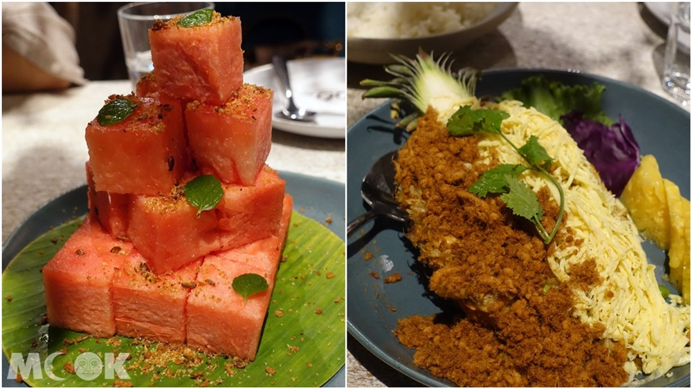 台灣 台北 泰國菜 Woo Taiwan 浮誇 網美 蜜汁西瓜佐魚酥 鳳梨炒飯