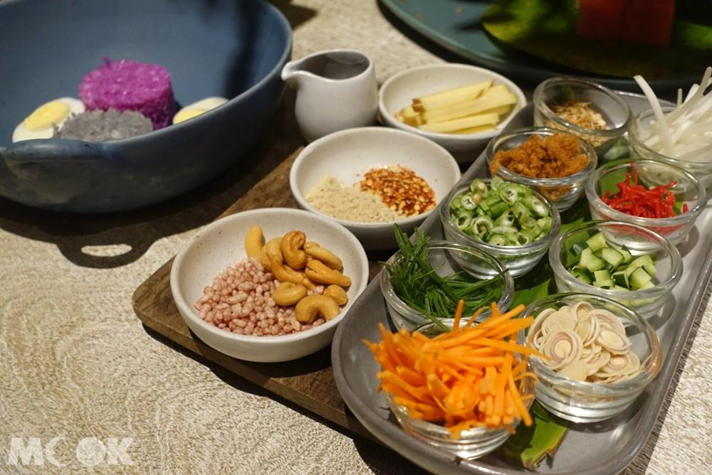台灣 台北 泰國菜 Woo Taiwan 浮誇 網美 雙色米沙拉