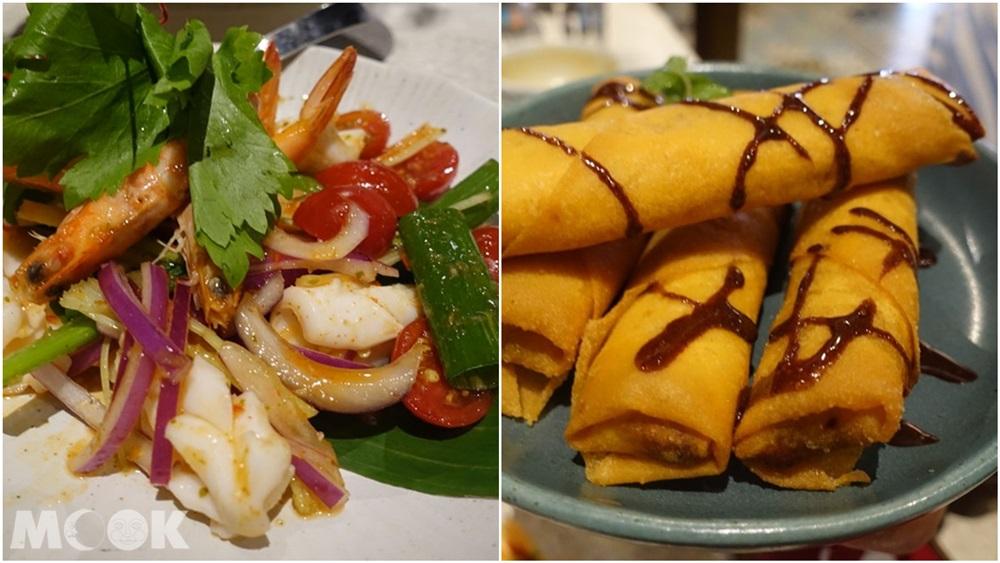 台灣 台北 泰國菜 Woo Taiwan 浮誇 網美 泰式海鮮沙拉 炸香蕉