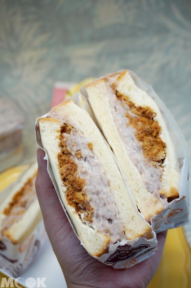 台灣台北市 行天宮 麥貳工作室 芋見肉鬆三明治