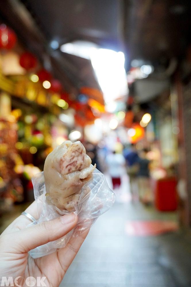 台灣新北市 瑞芳區 九份老街 阿蘭草仔粿 芋粿巧