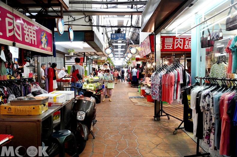 台灣台中市 西區 第五市場 市場內景