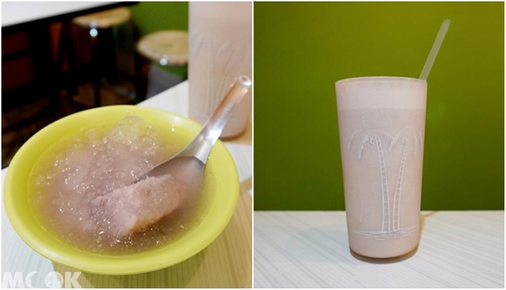 台灣台中市 西區 第五市場 冷凍芋冰&芋頭沙牛奶汁
