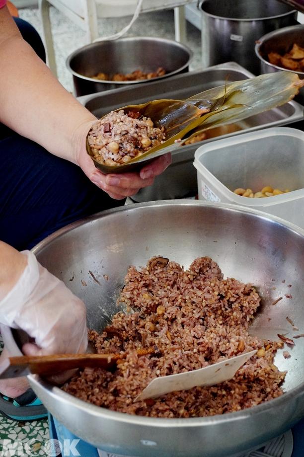 台灣台中市 西區 第五市場 素食粽