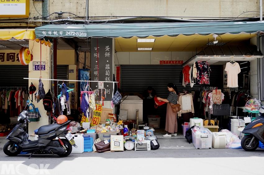 台灣台中市 西區 第五市場 二手商品攤販