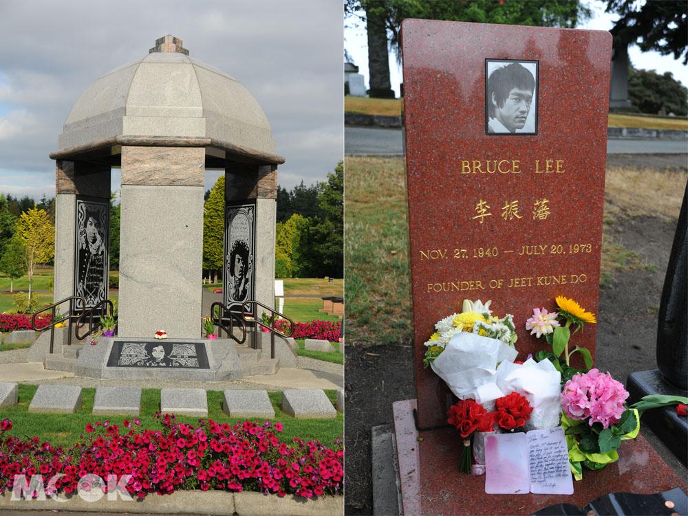 西雅圖的吉米罕醉克斯墓與李小龍墓