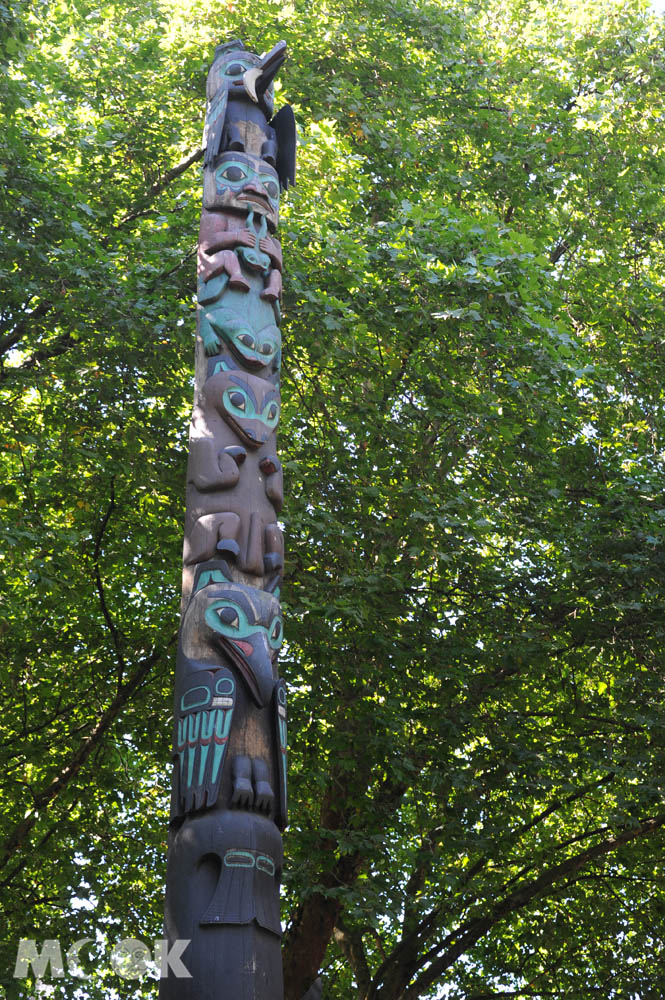 西雅圖拓荒者廣場上的特林吉圖騰柱
