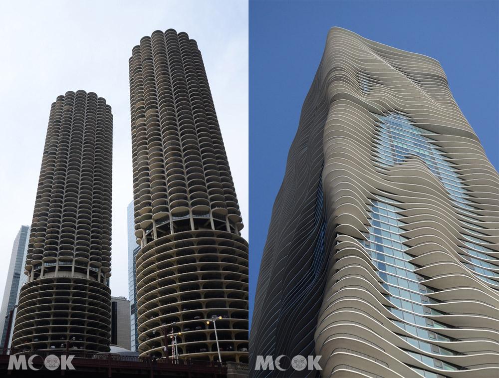 芝加哥的Marina City與Aqua