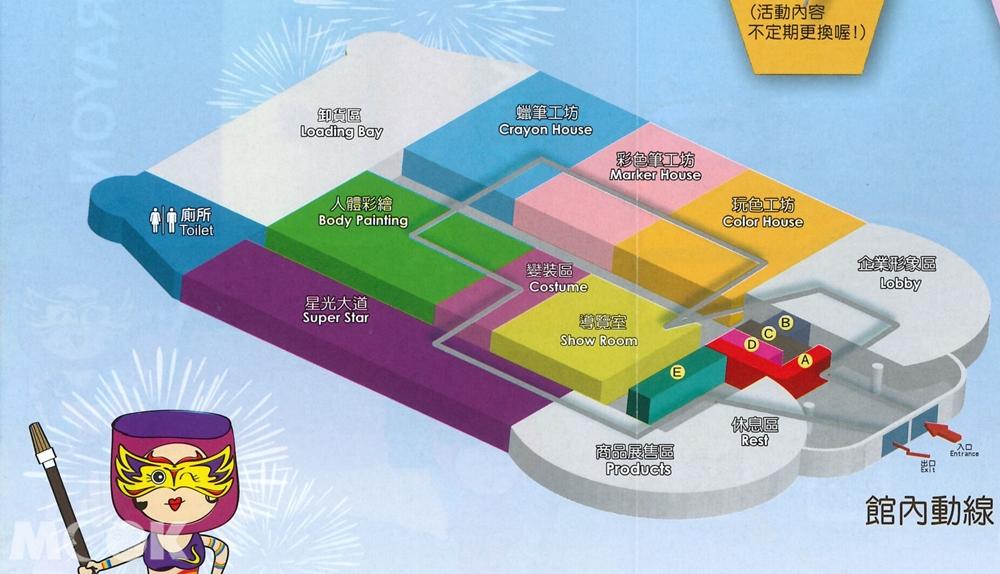 宜蘭 蘇澳 蜡藝蜡筆城堡 場內平面圖