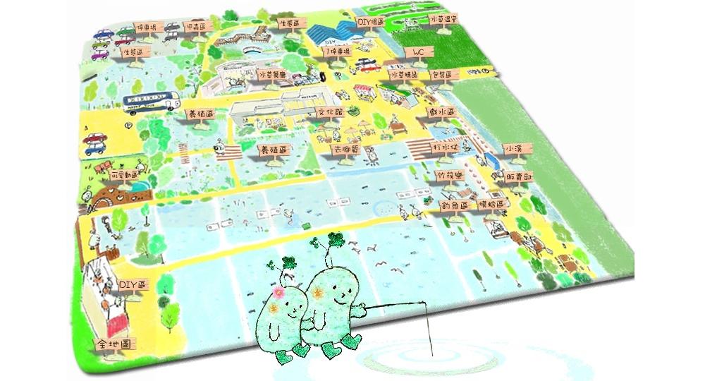 勝洋水草休閒農場 園區地圖
