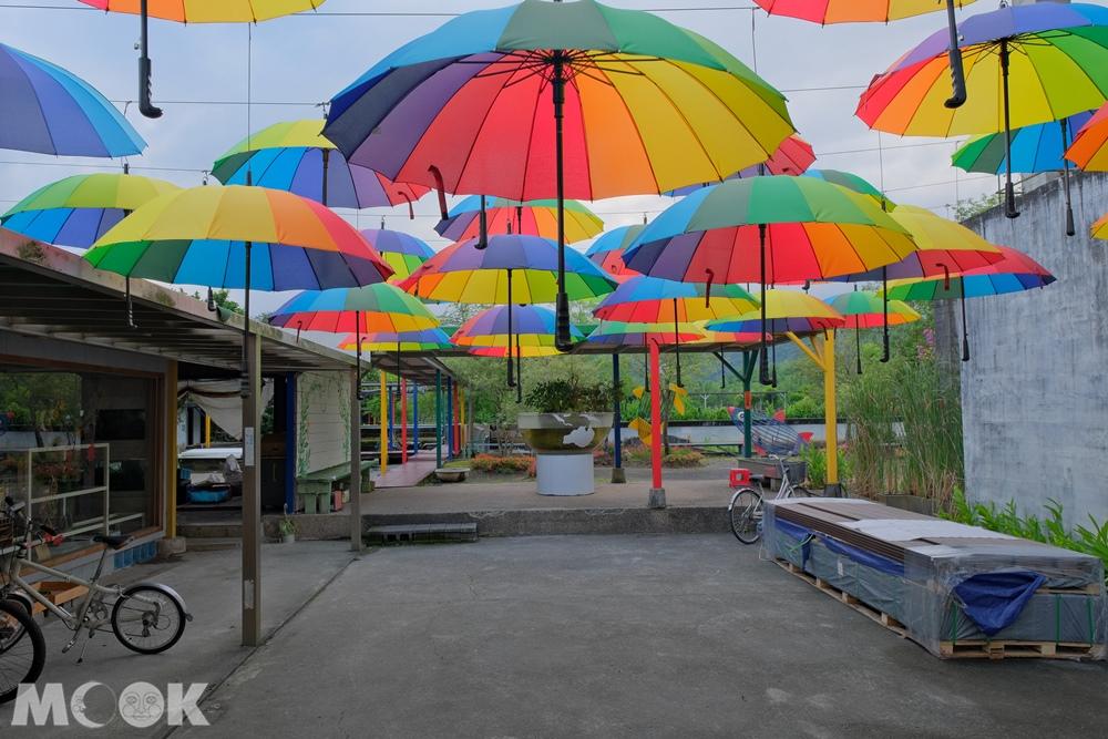 勝洋水草休閒農場 彩虹傘