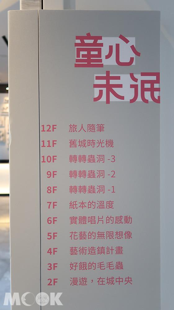台中大毅老爺行旅-從2樓到12樓都有不同主題的展覽