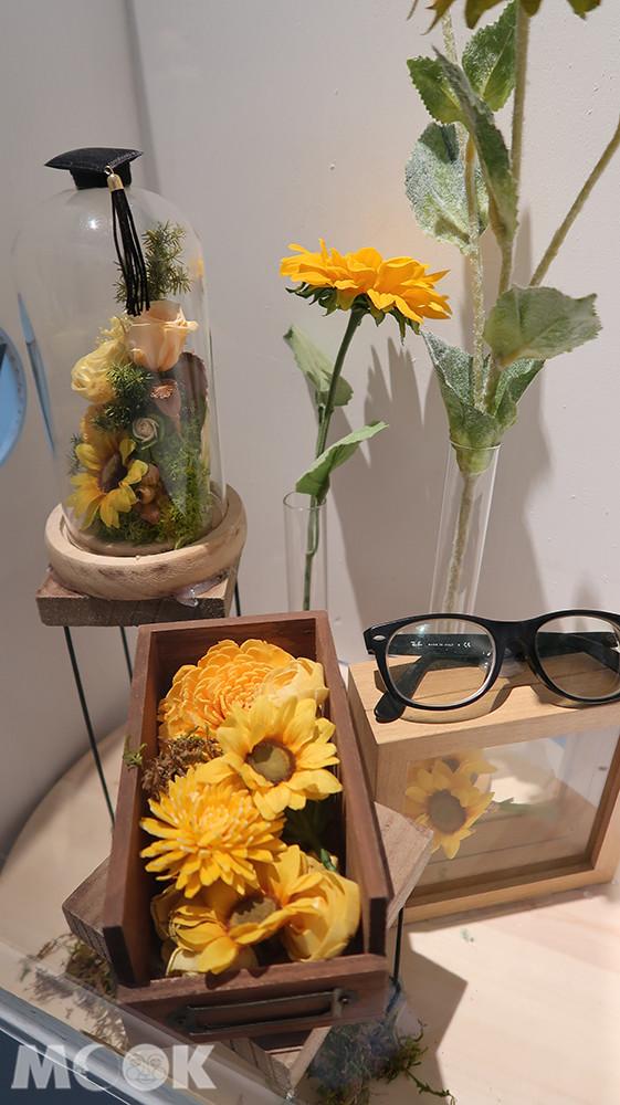 台中大毅老爺行旅-箱內的花藝作品