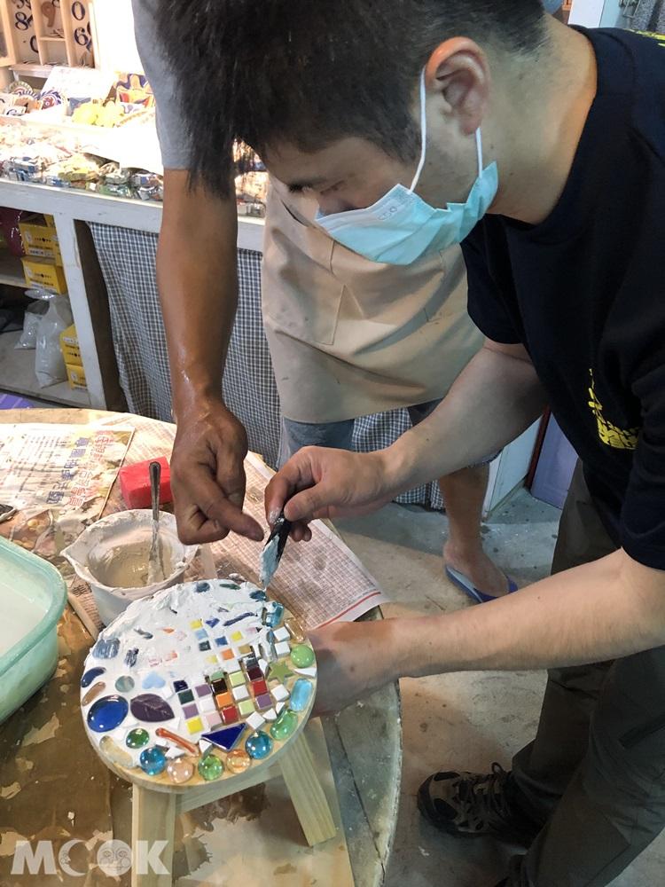鶯歌 陶趣家DIY馬賽克工坊 上泥
