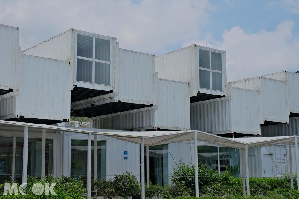 礁溪 龍潭湖畔悠活園區 貨櫃屋外觀