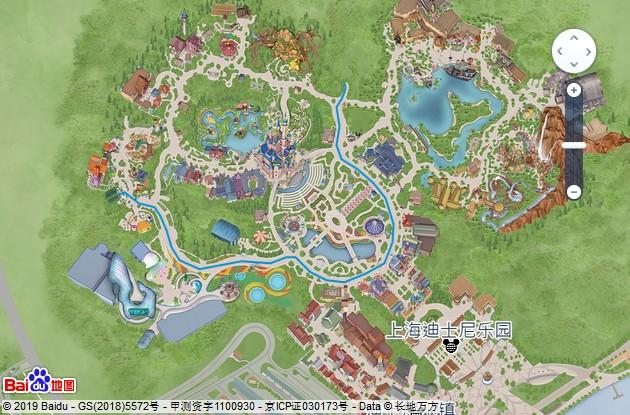 上海迪士尼米奇童話專列遊行路線圖