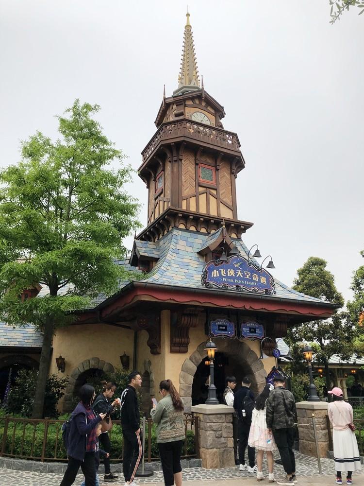 上海迪士尼樂園小飛俠天空奇遇