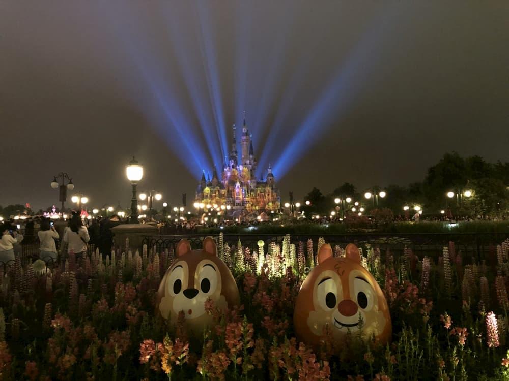 上海迪士尼夜景