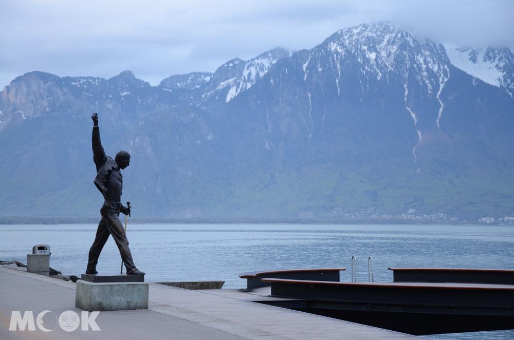 瑞士蒙投日內瓦湖畔的弗萊迪墨丘里像