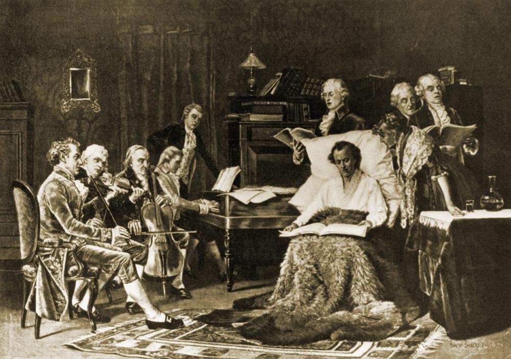 托馬斯.薛爾茲《詠唱安魂曲的莫札特》